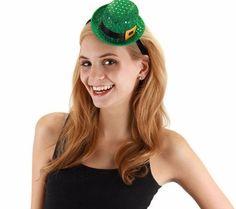 elope Mini Leprechaun Sequin Bower Hat Headband #elope #StPatricksDay