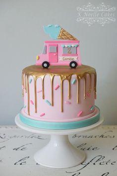 Ice Cream theme birthday cake By K Noelle Cakes
