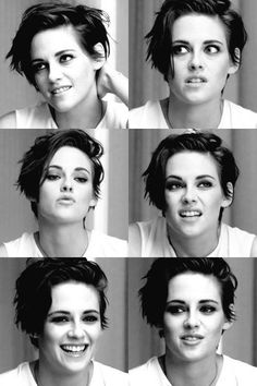 My hair is naturally the texture of Kristen Stewart.fine, oily and straight as a pin lol.pretty much any cut she has, I can also do. Kristen Stewart Short Hair, Kirsten Stewart, Kristen Stewart Hairstyles, Pixie Hairstyles, Pixie Haircut, Cool Hairstyles, Haircuts, Tomboy Hairstyles, Cut My Hair