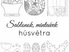 Letölthető mintaívek, sablonok húsvétra