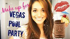 Vegas Pool Party Makeup Tutorial | Twinnect - YouTube