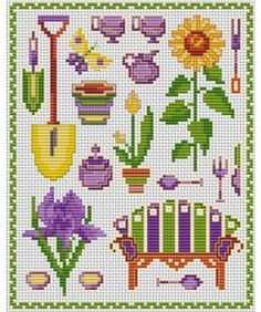 Pause flowers. Tons of FREE CROSS-SITCH PATTERNS at this site: just found a site that has really easy to download cross stirch patterns for free. It's http://club-point-de-croix.com/?code_avantage=CWcplRsmji Plus, if you click on this link, http://club-point-de-croix.com/?code_avantage=CWcplRsmji  , you'll automatically receive a gift when you subscribe. I use this site all the time; there are hundreds of all different types of patterns, and there are new patterns added everyday.