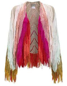 Multi Sequin Fringe Jacket Tim Ryan