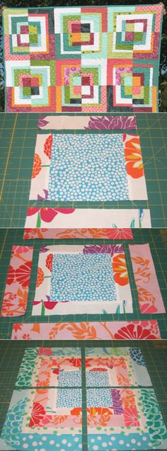 FITF: quartered squares – a modified bento box block tutorial | Film in the Fridge