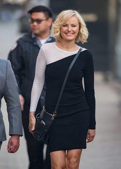 a0f9543c3bbcc Malin Akerman headed to  Jimmy Kimmel Live  carrying a chic black cross-body