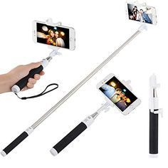 InnoGear® Foldable Portable Bluetooth Selfie Stick Mini Extendable Wireless Monopod Handheld Self Portrait with Remote Shutter Function for iPhone 6 6+ 5 5s 5c 4, Samsung S5 S4 S3 Note 3 Note 2, Blackberry, HTC one M7 M8 Mini, Sony Xperia Z2 Z1, LG, Compatble with IOS 5.0 and Above System, Android 2.3.6 and Above System (Black) InnoGear http://www.amazon.com/dp/B00PU0T9ZM/ref=cm_sw_r_pi_dp_ssF4ub128Q92F