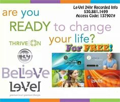 Le-Vel Thrive Business Info How are you feeling? Is something missing? Feeling a little tired? START Thriving ! Http://GetThrivingNow.le-vel.com