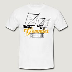 GOMMIER CARAIBE - T-shirt Homme. Embarcation traditionnelle des indiens Caraïbes.