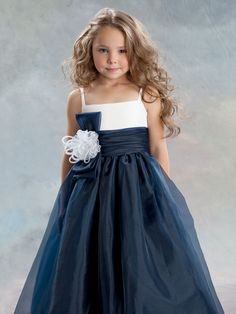 JD_L391 - Jordan-Sweet Beginnings Style L391- Spaghetti Strap Organza and Lace Dress - All First Communion Dresses - Flower Girl Dress For Less