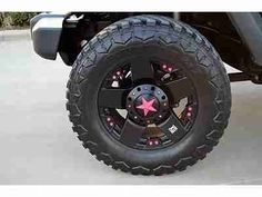 black jeeps with pink accents | 2010 Jeep Wrangler Unlimited, Auto, Custom Wheels, Pink Accent, 3 Inch ...