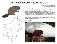 Printable beaver pattern from Downeast Thunder Farm.