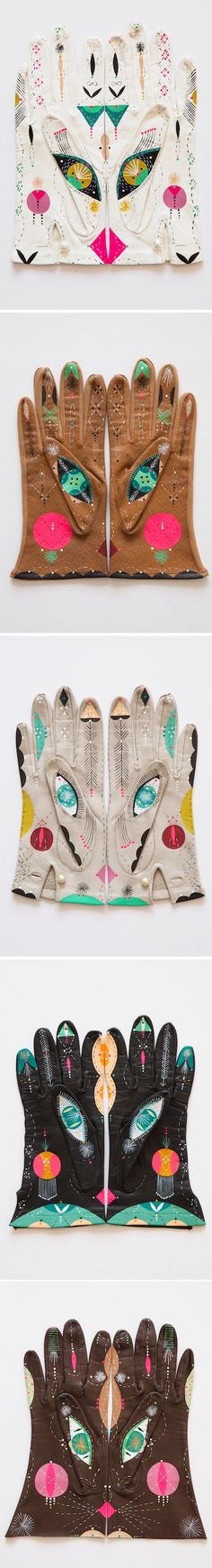 The Jealous Curator /// curated contemporary art /// bunnie reiss, cosmic animal gloves