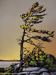 Jerzy Werbel, 'Vibration', x Landscape Tattoo, Landscape Art, Landscape Paintings, Watercolor Trees, Watercolor Paintings, Tattoo Watercolor, Watercolour, Art Gallery, Pine Tree Tattoo