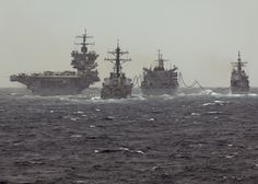 USS ENTERPRISE (CVN 65) Carrier Strike Group with USS VICKSBURG (CG 69), USS PORTER (DDG 78), and USNS SUPPLY (T-AOE 6) March 2012