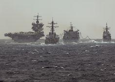 USS ENTERPRISE (CVN 65) Carrier Strike Group with USS VICKSBURG (CG 69), USS PORTER (DDG 78), and USNS SUPPLY (T-AOE 6) March 2012