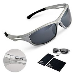 2364ddfae14c Amazon.com   Duduma Polarized Sports Sunglasses for Running Cycling Fishing  Golf Tr90 Unbreakable Frame (black black)   Sports   Outdoors