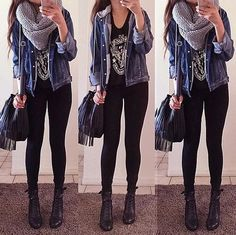 Teen Fashion : Sensible Advice To Becoming More Fashionable Right Now – Designer Fashion Tips Look Fashion, Teen Fashion, Fashion Outfits, Womens Fashion, Fashion Edgy, Fashion Ideas, Fashion Inspiration, Fall Winter Outfits, Autumn Winter Fashion
