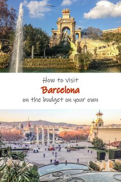 Your guide to visiting Barcelona on the budget comfortably and cheaply on your own. From flight tickets, accommodation, to all the sights and tips that will make your trip easier. Travel more for less money. Cheap Travel, Budget Travel, Visit Barcelona, Barcelona Spain, Paris Skyline, Taj Mahal, Budgeting, Europe, City