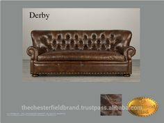 Check out this product on Alibaba.com APP Chesterfield Showroom Derby brown sofa