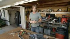 A video shoot - Eric working in the garage with his tools