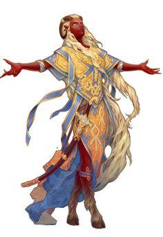 A tiefling worshiper of Saranrae from Pathfinder [x]