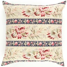 Like an elegant wallpaper from a Paris flat, this one-of-a-kind decorative pillow, crafted from vintage fabric, gives any space floral flair. C'est magnifique! Featherdown insert included.