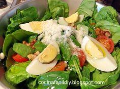 Espinacas en ensalada  fácil