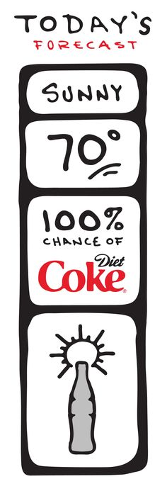 The perfect day starts with a Diet Coke.