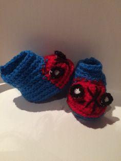 Un favorito personal de mi tienda Etsy https://www.etsy.com/ie/listing/238689123/spiderman-baby-boots-crochet-and