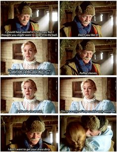 Anne of Green Gables: Anne + Matthew + Puffed Sleeves (gif)