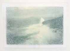 Georgia Russell - Green Wave - Bedrukt en gesneden Kozo papier