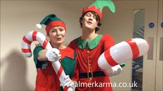 Singing Elves & Santa Father Christmas, Christmas Elf, Christmas Themes, Corporate Entertainment, Entertainment Ideas, Balloon Modelling, Poses For Photos, Xmas Party, Christmas Morning