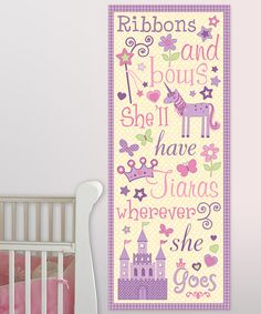 Take a look at this Yellow & Purple Ribbons & Bows Canvas Art by Lot 26 Studio on #zulily today!