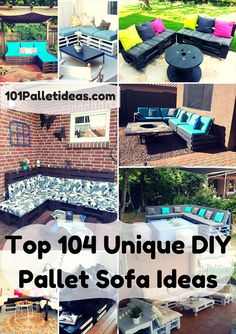 Top 104 Unique DIY Pallet Sofa Ideas