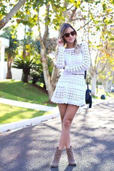 Look – Vestido de Tricot Luisa Accorsi