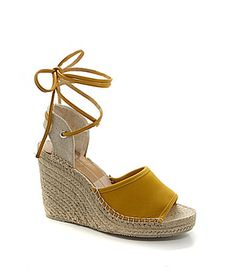 DV by Dolce Vita Sophia LaceUp Espadrille Wedges #Dillards