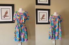 Vintage Floral Dress 60s by WaistlandVintage, $22.00