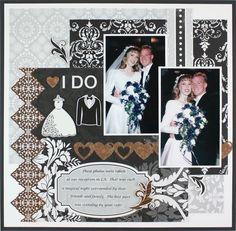 I Do Divine #Wedding 8x8 Kit #Scrapbooking Layout from Creative Memories    http://www.creativememories.com