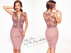 Midi occasion dress made from lace and triple veil, in lovely shades of lila: https://missgrey.ro/en/dresses/rochie-lilly/396?utm_campaign=iulie&utm_medium=rochie_lilly&utm_source=pinterest_produs