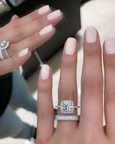 nail perfection. Pale Pink Nails, Neutral Gel Nails, Light Pink Nails, White Gold Nails, Neutral Wedding Nails, Pink Shellac Nails, White Nail Polish, Orange Nails, Uv Gel Nails