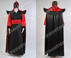 Disney Aladdin Jafar Villain Uniform Movie Cosplay Costume from Disney