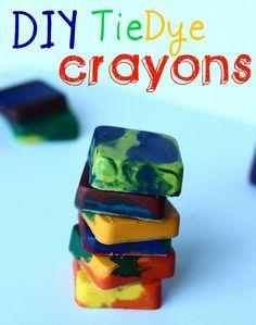 Tie dye crayons!