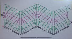 Image result for crochet chevron