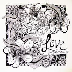 Zentangle ways to express your love Zentangle Drawings, Doodles Zentangles, Zentangle Patterns, Doodle Drawings, Fun Drawings, Art Patterns, Doodle Art, Zen Doodle, Adult Coloring Pages
