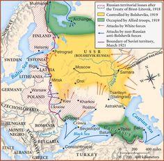 (1918-1921) Russian Civil War Map