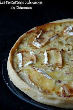 tarte oignon, pomme, lardon, camembert