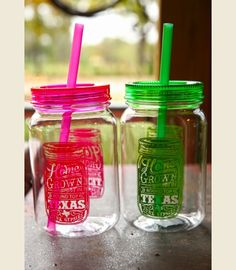 ONLY $9 TODAY!!!! HOMEGROWN MASON jar drinkin' cup! 25 oz single wall (BPA free) mason jar tumbler {Junk GYpSy co.}