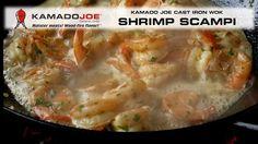 Kamado Joe Cast Iron Wok Shrimp Scampi https://www.youtube.com/watch… #ArcticSpasUtah