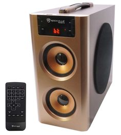 Rockville Home Theater Compact Powered Speaker System w Bluetooth/USB/FM ( 15741 Watch Count ) Home Speakers, Home Theater Speakers, Built In Speakers, High End Speakers, Hifi Audio, Wireless Speakers, Cool Electronics, Consumer Electronics, Powered Speakers