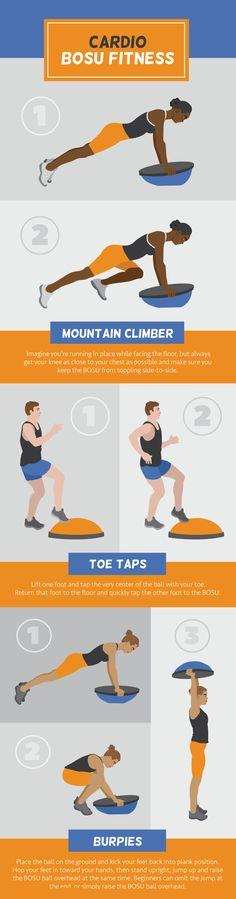 Cardio BOSU Ball Fitness - Using a BOSU Ball for Full-Body Fitness